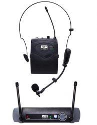 Microfone Sem Fio Cabeça/Lapela MXT,  Modelo UHF 10 BP