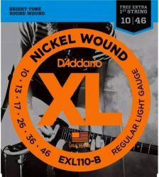 Encordoamento Para Guitarra D´addario EXL 110-B Tensão 0,10