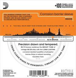 Encordoamento Para Violão D´addario EZ 900-B, Tensão 0,10