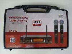 Microfone Sem Fio Duplo MXT UHF 628 M