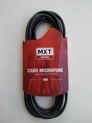 Cabo de Microfone Balanceado XLR/XLR 5m MXT