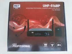 Microfone Sem Fio Cabeça / Lapela MXT, Modelo UHF516BP